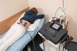 Electrophoresis prescribed to patients for the treatment of lower back, pain and inflammation